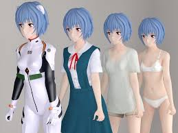 Fantasy girl, red, frumusete, luminos, 3d, asian, studio shot. 3d Rei Ayanami Anime Girl Pose 01 Cgtrader