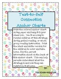 Text To Self Connection Anchor Charts