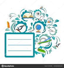 Back To School Invitation Template Back School Color Background Tree Vector Invitation Template Card