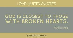 Love Hurts Quotes Delectable Love Hurts Quotes And Sayings Greeting Card Poet