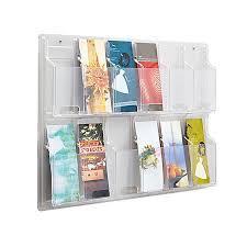 office depot magazine rack. Clear Literature Rack Pamphlet 12 Pockets Office Depot Magazine I