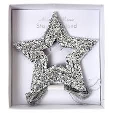 <b>Гирлянда</b> серебрянные звезды <b>MeriMeri</b>, <b>новогодний</b> декор ...