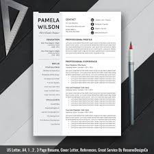 Modern Digital Resume Design 2020 Ms Word Resume Template Cover Letter And References Templates Resume Fonts And Icons Resume Editing Guide Digital Instant Download The