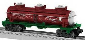 lionel santas flyer lionel 6 36173 santas flyer hot cocoa 3 dome tank car o trainz