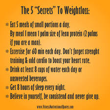 Weight Loss Motivational Quotes My 5 Weight Loss Secrets