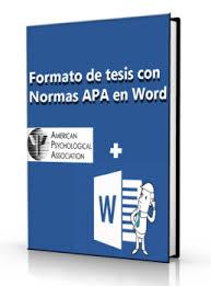 Formato De Tesis Con Normas Apa En Word Doc Universo Abierto