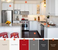 using an eggshell wall paint allows you to add splashes of personality throughout your kitchen without throwing off the color scheme