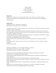 Objective For Paralegal Resume Awesome Idea Sample Cover Letter