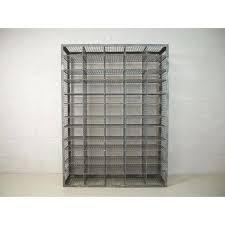 pigeon hole shelf cd storage unit