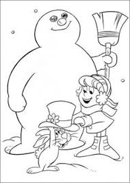 Small Picture Frosty Snowman Coloring For Kids pdf printable Coloring Pages