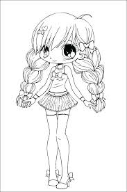 Anime Wolf Coloring Pages Characters Ideas Of Cute Girl Female