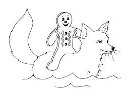 Small Picture Coloring Pages Gingerbread Man Fox Gekimoe 33809