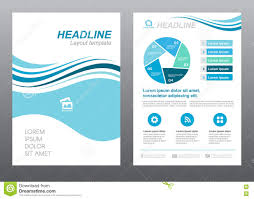 layout flyer template size a cover page blue wave style vector layout flyer template size a4 cover page blue wave style vector design