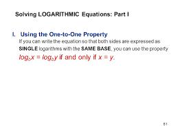 61 solving logarithmic