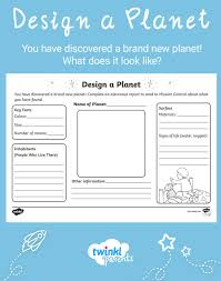 Design Your Own Planet Use This Fun And Creative Worksheet As An Addition To Your