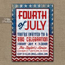 4th of july party invitations bbq