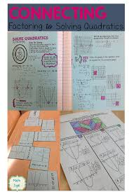 solve quadratic equations by factoring with these fun hands on activities math dyal