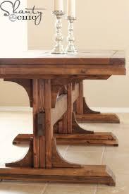 diy dining table triple pedestal farmhouse shanty 2 chic home decor designs