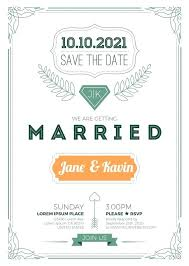 Stock Vector Of Vintage Wedding Invitation Card Size Frame Layout