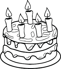 Cake Coloring Pages Free Coloring Library Birthday Cake Coloring