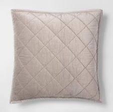 velvet pillow shams. Fine Pillow FIELDCREST STERLING GRAY VELVET Euro Quilted PILLOW SHAM Cottage Chic Grey In Velvet Pillow Shams E