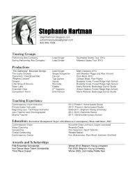 Audition Resume Format Inspiration Dance Resume Objective Examples Dance Coach Resume Examples