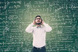man solving mathematical equation stock photo 79833380