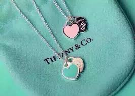 t i f f a n y c0 double heart pink pendant necklace silver 925