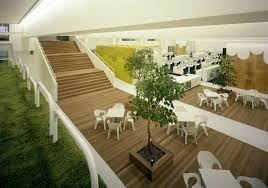 Image Airbnb Tokyo Its Design Which Is Inspired From An Old Bowling Alley There Is Lawn With Lush Green Grass And An Adjacent Open Space With Offices Project Spaces Eoffice Traditional Japanese Office Eoffice Coworking Office Design