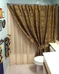 Double Shower Curtains Double Panel Curtains Grommet Curtain Panel