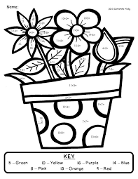 Math Coloring Worksheets For 2nd Graders | Coloring Page for kids