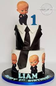 Baby Boss 2 Tiers 1st Birthday Cake