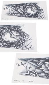 3d тату 12 Reviews алиэкспресс временное тату 1шт 3d часы часы временные съемный