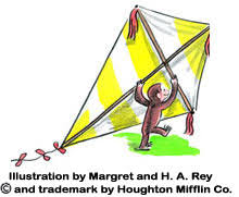 curious george ilration by margret and h a rey