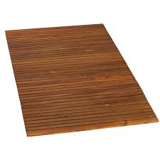 Bare Decor Oskar String Spa Shower Mat/Rug in Solid Teak Wood Oiled Finish  - Free Shipping Today - Overstock.com - 17720119