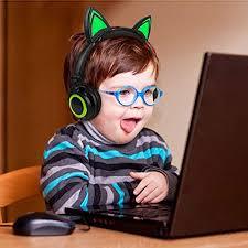 LIMSON Cat Ear Headphones <b>Over Ear</b> Wired Kids Earphones with ...