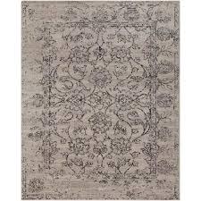 leoville medium gray 8 ft x 10 ft area rug