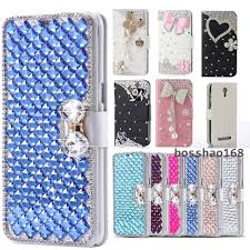 huawei elate case. diamonds leather wallet cover case for huawei ascend xt2/huawei elate 4g lte c