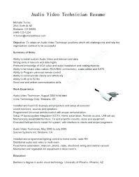 Field Service Technician Resume Sample Sample Professional Resume
