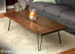 hairpin leg coffee table modern farmhouse mid century diy side