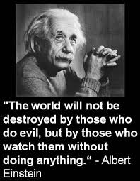 Einstein Quotes Enchanting The World Will Not Be Destroyed By Those Who Do Evil Life