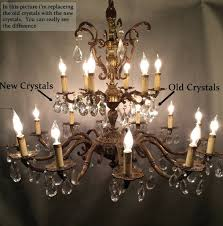 chandeliers antique brass and crystal chandeliers for ideas for old chandelier crystals how to