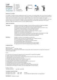English Tutor Resume Samples English Teacher Resume English Teacher Cover  Letter french teacher resume sample