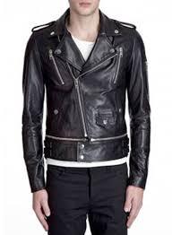 trooper biker leather jacket