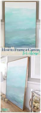 No WAY! This is such an easy (and cheap!) DIY to frame a canvas.