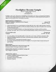 firefighter resume sample