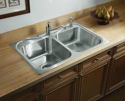 create a perfect choice for your home using this sterling plumbing southhaven top mount stainless steel double bowl kitchen sink