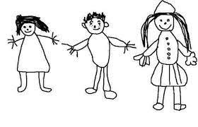 Le Bonhomme en graphisme de maternelle: tétard 4