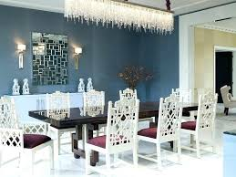 cool crystal chandelier lights up the paintings on wall trend dining room contemporary chandeliers of goodly