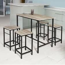 Sobuy Ogt11 N Set De 1 Table 43 4 Tabourets Ensemble Table De Bar